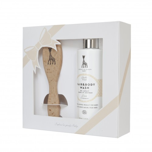 SOPHIE LA GIRAFE HAIR & BODY WASH & BRUSH GIFTSET