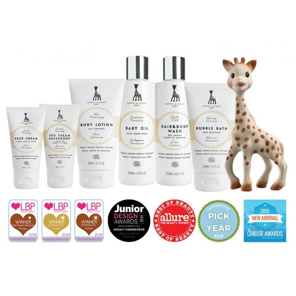 SOHPIE LA GIRAFE BODY LOTION UND HAAR & BODY WASH SET