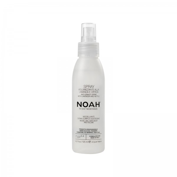 Volumizing spray modeling, gives body and volume to the hair
