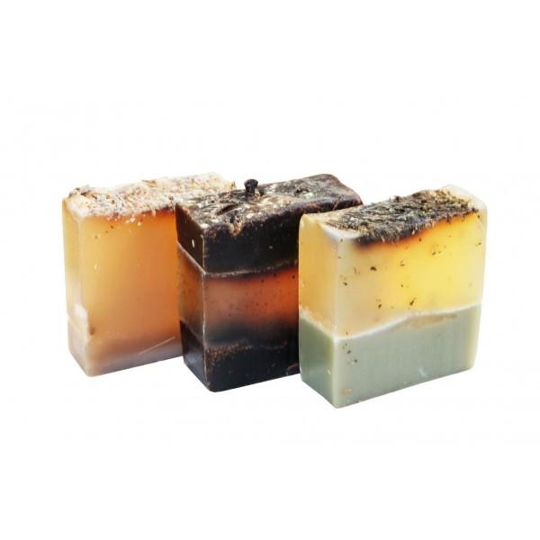 NATÜRLICHE SEIFE Pfefferminze und Mineralien der französischen Tonerde