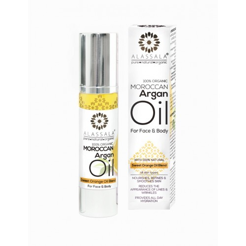 Organic Moroccan Argan Oil with Orange Sweet Blend