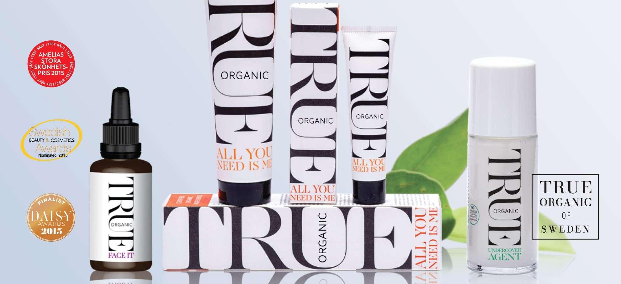 Organic cosmetics - True organic of Sweden